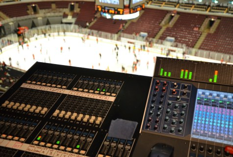 Sound Room at the United Center, Chicago, Illinois