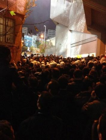 Riot police gathering at Kasımpaşa vs Galatasaray at Recep Tayyip Erdoğan Stadyumu, İstanbul, Turkey
