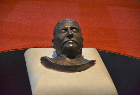 Stalin's death mask at the Joseph Stalin Museum in Gori, Georgia