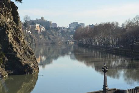 Mtkvari River in Tbilisi, Georgia