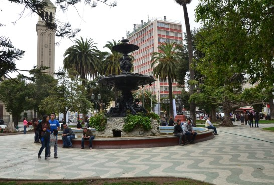 Plaza Victoria in Valparaíso, Chile