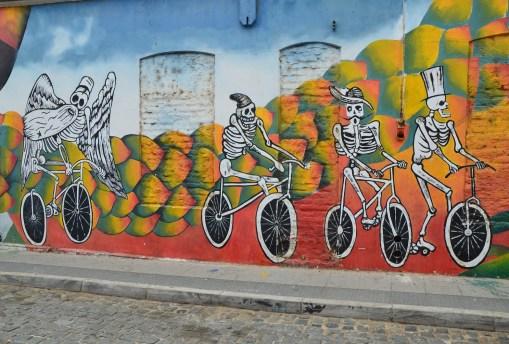 Graffiti on Cerro Cordillera in Valparaíso, Chile