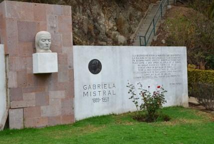 Gabriela Mistral monument at Quinta Vergara in Viña del Mar, Chile