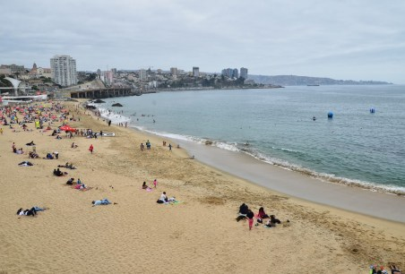 Beach by the Sheraton in Viña del Mar, Chile