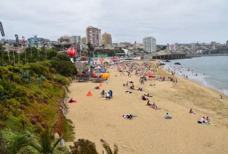Beach in Viña del Mar, Chile