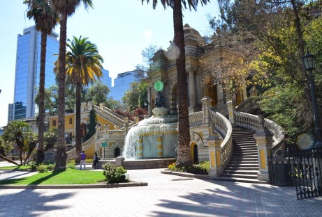 Plaza Neptune at Cerro Santa Lucía in Santiago de Chile