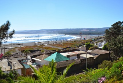 Playa Las Terrazas from Ross Park in Pichilemu, Chile
