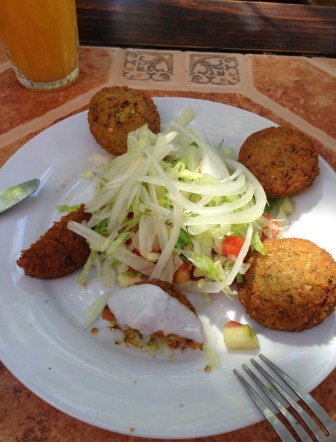 Falafel at Jerusalem in Providencia, Santiago de Chile