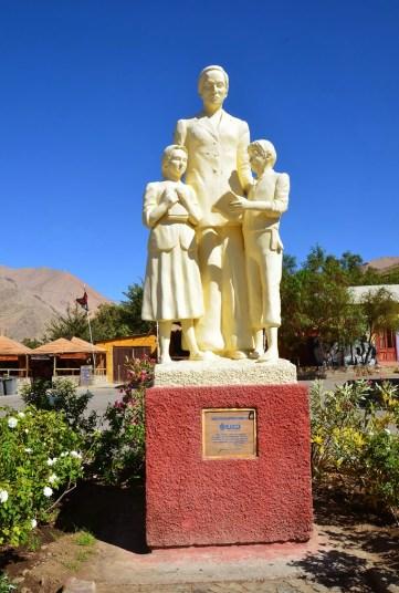 Gabriela Mistral statue in Montegrande, Valle del Elqui, Chile