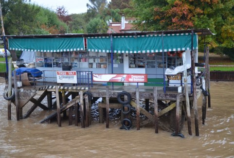 Service pier in Tigre, Argentina