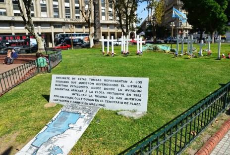 Las Malvinas memorial at Plaza de Mayo in Buenos Aires, Argentina
