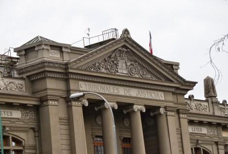 Palacio de los Tribunales de Justicia in Santiago de Chile