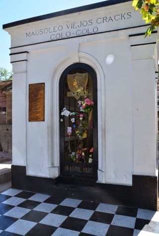 Colo Colo footballers tomb at Cementerio General in Santiago de Chile