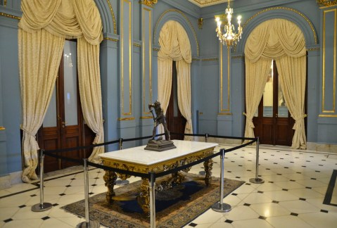Salón Azul at Casa Rosada on Plaza de Mayo in Buenos Aires, Argentina