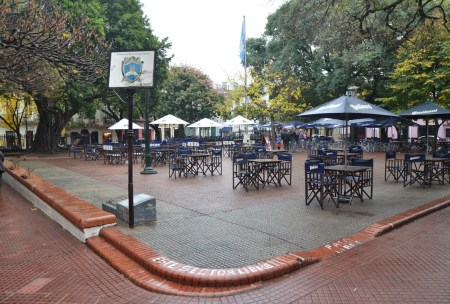 Plaza Dorrego in San Telmo, Buenos Aires, Argentina