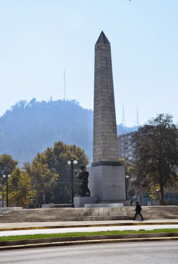 Obelisk at Parque Balmaceda in Santiago de Chile
