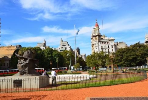 Plaza Mariano Moreno in Buenos Aires, Argentina