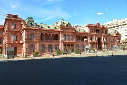 Casa Rosada at Plaza de Mayo in Buenos Aires, Argentina
