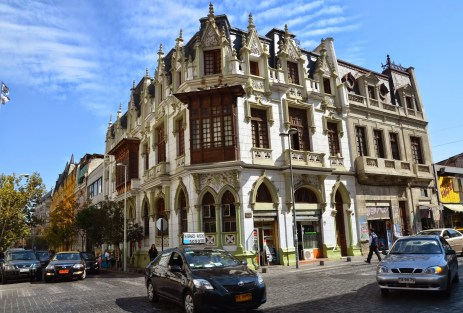 Calle Padre Alonso de Ovalle in Barrio Dieciocho, Santiago de Chile