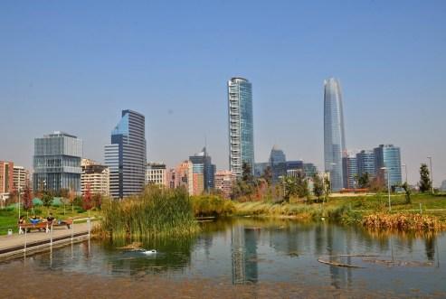 Parque Bicentenario in Santiago de Chile