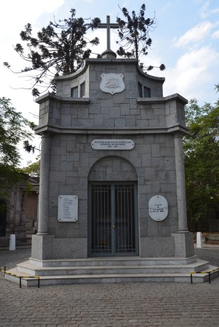 Tomb of Manuel Baquedano at Cementerio General in Santiago de Chile