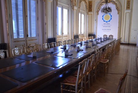 Salón Norte at Casa Rosada on Plaza de Mayo in Buenos Aires, Argentina