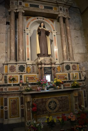 Altar of Santa Teresa de los Andes at Catedral Metropolitana on Plaza de Armas in Santiago de Chile