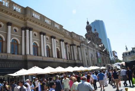 Palacio Arzobispal de Santiago on Plaza de Armas in Santiago de Chile