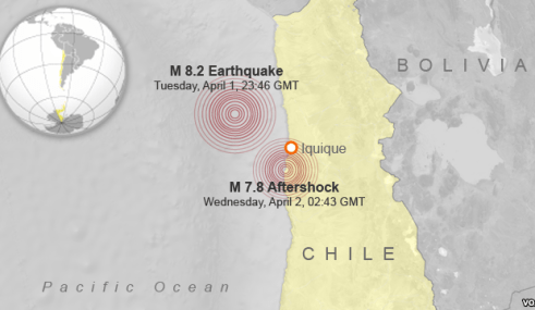 Iquique earthquake - Image courtesy of VOA News