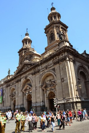 Catedral Metropolitana on Plaza de Armas in Santiago de Chile