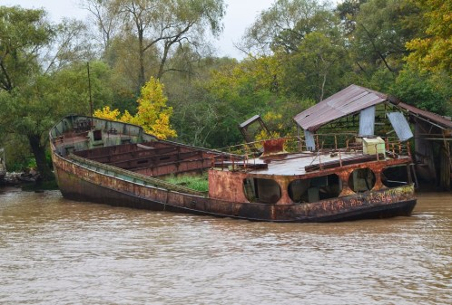 Abandoned ship in Tigre, Argentina