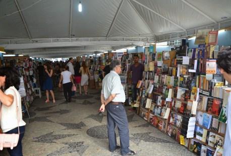 Book fair at Cinelândia in Rio de Janeiro, Brazil