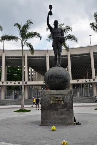 World Cup Champions monument for 1958 & 1962 at Estádio do Maracanã in Rio de Janeiro, Brazil