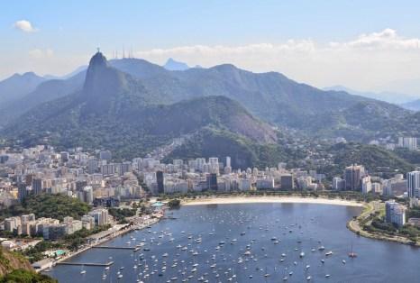 The view of Botafogo from Pão de Açúcar in Rio de Janeiro, Brazil