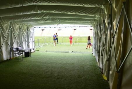 Players' tunnel at Estádio do Maracanã in Rio de Janeiro, Brazil