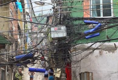 Powerlines at Rocinha favela, Rio de Janeiro, Brazil