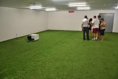 Warmup room at Estádio do Maracanã in Rio de Janeiro, Brazil
