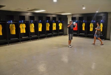 Brazilian national team locker room at Estádio do Maracanã in Rio de Janeiro, Brazil