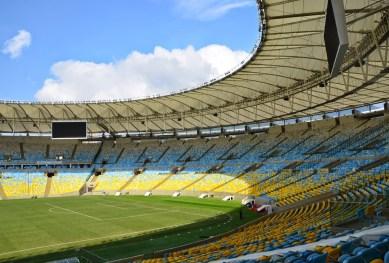 View from the VIP Level at Estádio do Maracanã in Rio de Janeiro, Brazil