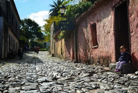 Calle de los Suspiros in Colonia del Sacramento, Uruguay