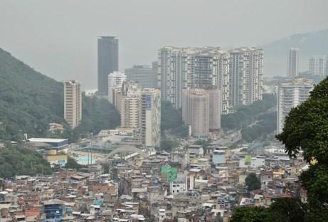 Rocinha meets Rio at Rocinha favela, Rio de Janeiro, Brazil