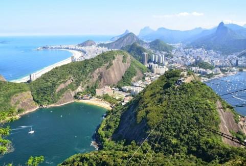 View from Pão de Açúcar in Rio de Janeiro, Brazil