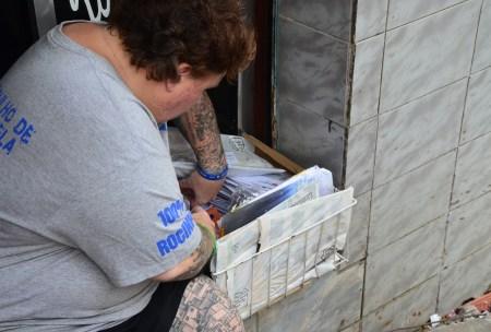 Mail delivery at Rocinha favela in Rio de Janeiro, Brazil
