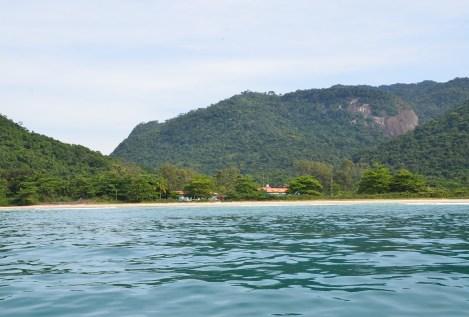 Praia de Dois Rios on Ilha Grande, Brazil