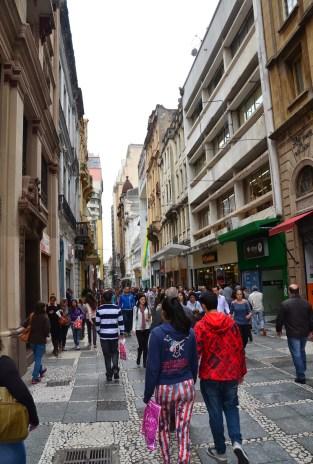 Rua São Bento in São Paulo, Brazil
