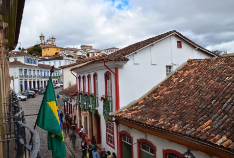 The view from Casa dos Contos in Ouro Preto, Brazil