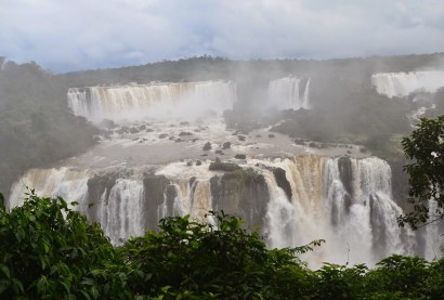The falls at Parque Nacional do Iguaçu in Brazil