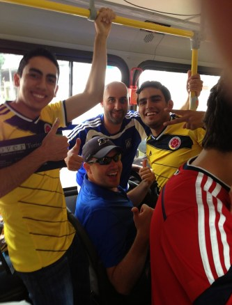 On the way to the stadium in Belo Horizonte, Brazil