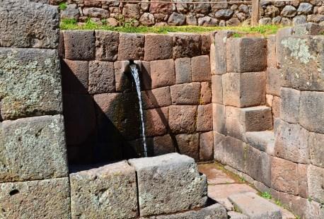 Royal bath at Tipón, Peru