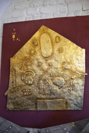 inca gold plate at Convento de Santo Domingo in Cusco, Peru